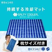 敷きパッド ソルティクーラー 塩の力で冷やす クール敷きパッド シングル 冷感 冷却 冷却マット マット 夏 夏用 クール 寝具 80×140cm ひんやり ひんやりマット リバーシブル 送料込 送料無料