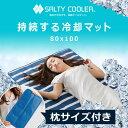 敷きパッド 80×100cm Sサイズ 冷却マット 夏 ソルティクーラー ソルティークーラー アイスソルト 冷感マット クールマット クール 冷感 寝具 暑さ対策 塩 送料無料 送料込
