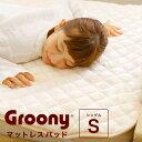 グルーニー groony マットレスパッド 敷きパッド シングル 冬用 あったか 静電気防止 【送料無料】 送料込
