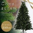 クリスマスツリー 210cm クリスマス ツリー ヌードツリー 210cmクリスマスツリー シンプル 置物 店舗用 法人用 業務用 ショップ用 簡単組立 送料無料 送料込