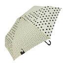 ショッピング折りたたみ傘 Mauve drops 折りたたみ傘 ラメ入り 50cm mini ツインドット FMM-2011 ホワイト