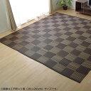 洗える PPカーペット 『ウィード』 ブラウン 江戸間4.5畳(約261×261cm) 2117004