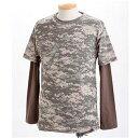 樂天商城 - ドライクール ナイス カモ( 迷彩) フラ半袖 Tシャツ&ロング Tシャツ2枚 セット( 迷彩) ACU XL
