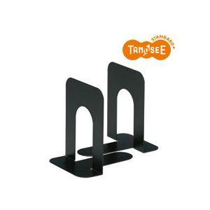 (まとめ)TANOSEE ブックエンド T型 中 ブラック 30組 机上整理/収納用品 ブックエンド・ブックスタンド