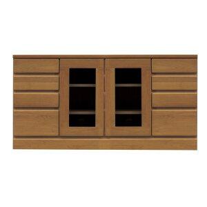 4段ローボード/テレビ台 【幅120cm】 木製 扉収納付き