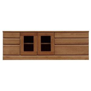 3段ローボード/テレビ台 【幅150cm】 木製 扉収納付き