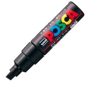 (業務用200セット) 三菱鉛筆 ポスカ/POP用マーカー 【太字/黒】 水性インク PC-8K.24 鮮やかで耐水性に優れたサインペン フェルトペン 水性ペン