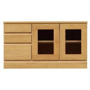 3段ローボード/テレビ台 【幅90cm】 木製 扉収納付き