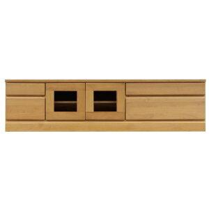 2段ローボード/テレビ台 【幅150cm】 木製 扉収納付き