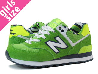 NEW BALANCE WL574YCG-new balance WL574YCG GREEN/YELLOW fs3gm
