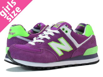 NEW BALANCE WL574YCK-new balance WL574YCK PURPLE/GREEN
