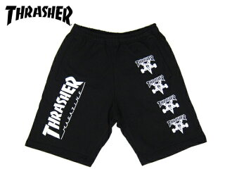 THRASHER SWEAT SHORTS slasher sweat shorts BLACK