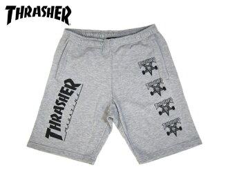 THRASHER SWEAT SHORTS slasher sweat shorts GREY
