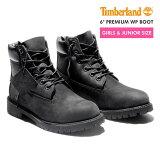 TIMBERLAND 6inch PREMIUM BOOTS ティンバーランド 6インチ プレミアム ブーツ 【JUNIOR''S】 BLACK 【レディース】 【同梱不可商品】【別倉庫からの配送】