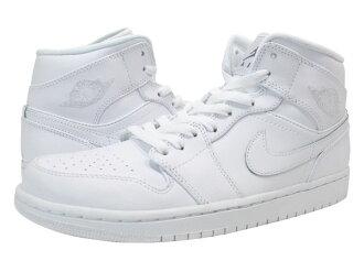 NIKE AIR JORDAN1 MID Nike Air Jordan 1 mid WHITE/WHITE/COOL GRAY