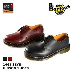 Dr.Martens 1461 3EYE GIBSON SHOES 【メンズ】【レディース】<strong>ドクターマーチン</strong> 3アイレット ギブソンシュー 3ホール BLACK(R11838002) / CHERRY RED(R11838600)