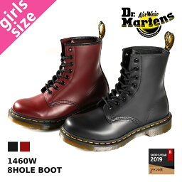 Dr.Martens 8HOLE BOOT 1460W <strong>ドクターマーチン</strong> レディース 8ホール ブーツ BLACK(R11821006) / CHERRY RED(R11821600)