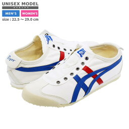 【10%OFFクーポン】 Onitsuka Tiger MEXICO 66 SLIP-ON CV <strong>オニツカタイガー</strong> メキシコ 66 スリッポン CV WHITE/BLUE/RED