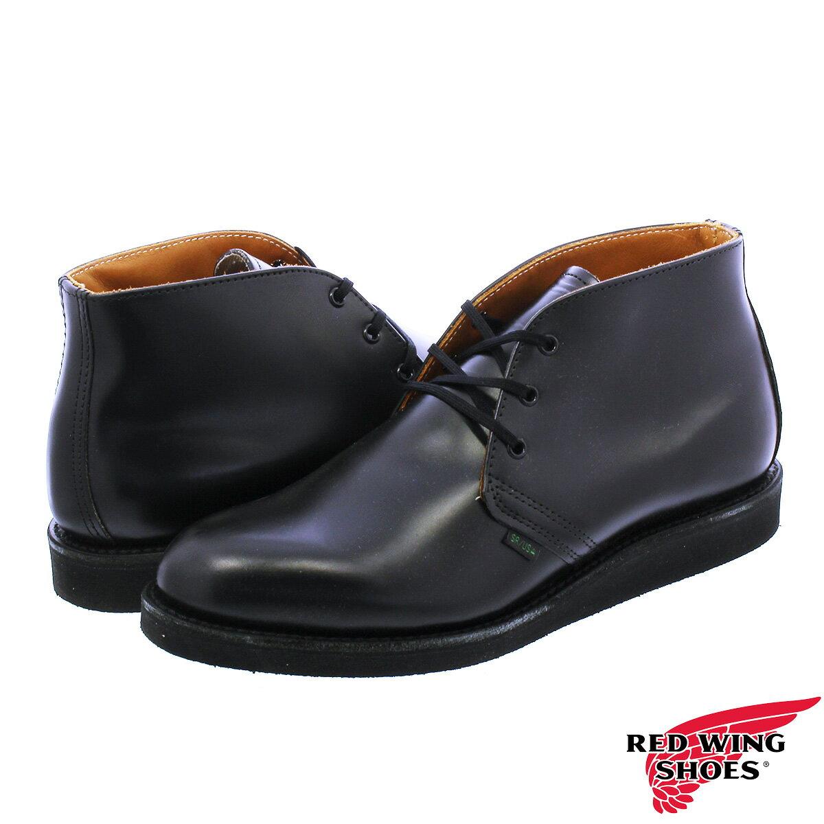 【送料無料】RED WING 9196 POSTMAN BOOT CHUKKA 【MADE IN U.S.A.】 レッドウイング ポストマン ブーツ チャッカ BLACK 【Dワイズ】