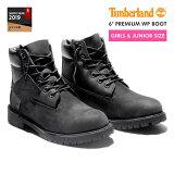 【大人気の女の子サイズ♪】 TIMBERLAND 6inch PREMIUM BOOT ティンバーランド 6インチ プレミアム ブーツ 【JUNIOR''S】 BLACK 【レディ