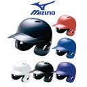 【あす楽対応】※返品・サイズ交換不可 ミズノ 野球 軟式打者用 両耳ヘルメット 1DJHR101