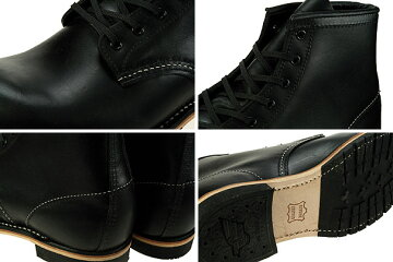 "REDWINGBECKMANBOOTSROUND-TOE""BLACK"""