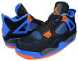 "NIKE AIR JORDAN 4 RETRO ""CAVS"" blk/s.org-g.royal"