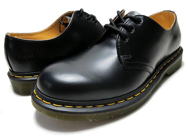 Dr.Martens 马丁大夫/马丁1461经典男靴 黑色漆皮款