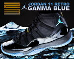 "お得な割引クーポン発行中!!NIKE AIR JORDAN 11 RETRO ""GAMMA BLUE"" blk/gmma.blu-blk-v.maize"