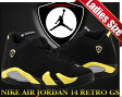 "NIKE AIR JORDAN 14 RETRO GS ""THUNDER"" blk/v.yel-wht"
