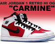 """☆サイズ限定価格☆NIKE AIR JORDAN 1 RETRO HI OG """"CARMINE"""" wht/carmine-blk"""