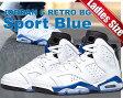 "NIKE AIR JORDAN 6 RETRO BG ""Sport Blue"" wht/s.blu-blk"