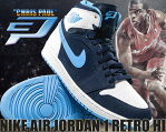 "最大2,000円OFFクーポン発行中!★お求めやすく価格改定★NIKE AIR JORDAN 1 RETRO HI ""CHRIS PAUL"" m.nvy/u.blu-wht"