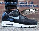 【送料無料 ナイキ エア マックス 90 エッセンシャル】NIKE AIR MAX 90 ESSENTIAL blk/dv grey-gym bl-bl grpht【ランニングシューズ】