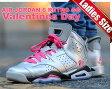"""【送料無料 ナイキ ジョーダン6 レディースサイズ】NIKE AIR JORDAN 6 RETRO GG """"Valentines Day """" m.slv/v.pink-blk【日本未発売】"""