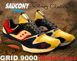 "★お求めやすく価格改定★【サッカニー】Saucony× Play Cloths GRID 9000 ""Motocross"" ye/nvy-wht"
