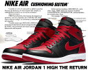 "【送料無料 ナイキ ジョーダン】NIKE AIR JORDAN 1 HIGH THE RETURN ""BRED"" blk/blk-g.red-wht"
