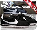 【ナイキ スニーカー コルテッツ】NIKE CLASSIC CORTEZ NYLON blk/wht