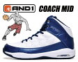 """【""""AND 1""""期間限定特別価格 アンドワン スニーカー バスケットシューズ】AND1 COACH MID white/navy-silver"""