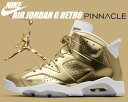 【送料無料 ナイキ スニーカー ジョーダン】NIKE AIR JORDAN 6 RETRO PINNACLE m.gold/wht