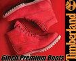 【送料無料 ティンバーランド ブーツ 6インチ レッド・ヌバック メンズ】Timberland 6inch Premium Boots RED NUBUCK【A1149】