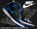 "【送料無料 ナイキ エア ジョーダン 1 OG】NIKE AIR JORDAN 1 RETRO HIGH OG ""ROYAL"" blk/royal【4月..."