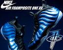 【送料無料 ナイキ スニーカー フォームポジット】NIKE AIR FOAMPOSITE ONE XX dk neon royal/wht-blk