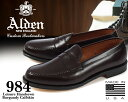 【送料無料 オールデン ローファー】ALDEN 984 CALFSKIN LEATHER PENNY LOAFERS LEISU