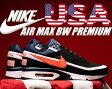 """【ナイキ スニーカー エア マックス BW USA】NIKE AIR MAX BW PREMIUM """"USA"""" blk/crmson-m.nvy"""