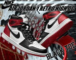 "NIKE AIR JORDAN 1 RETRO HIGH OG ""BLACK TOE"" wht/blk-v.red(つま黒・ビッグサイズ)"