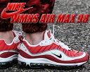 【ナイキ ウィメンズ エアマックス 98】NIKE W AIR MAX 98 white/black-gym red 【スニーカー エア マックス メンズサイズ対応】
