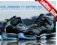"☆期間限定プライスダウン☆NIKE AIR JORDAN 11 RETRO GS ""GAMMA BLUE"" blk/gmma.blu-blk-v.maize"