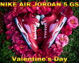"NIKE GIRLS AIR JORDAN 5 RETRO GS ""Valentine´s Day"" g.red/ion pink"