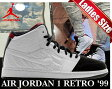 "NIKE AIR JORDAN 1 RETRO '99 BG ""AJ14"" wht/blk-g.red"